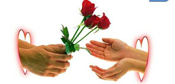 Em nome de todos rosas para você!